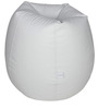 Classic Bean Bag Cover without Beans in White Colour by Sattva