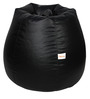 Classic Bean Bag with Beans in Black Colour by Sattva