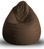 Classic Bean Bag XL size in Brown Colour with Beans by Style Homez