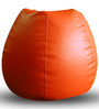 Classic Bean Bag XL size in Orange Colour with Beans by Style Homez