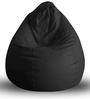Classic Bean Bag XXL size in Black Colour with Beans by Style Homez