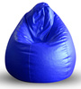 Classic Bean Bag XXL size in Blue Colour with Beans by Style Homez