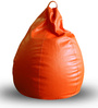 Classic Bean Bag XXL size in Orange Colour with Beans by Style Homez