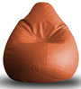 Classic Bean Bag XXL size in Tan Colour with Beans by Style Homez