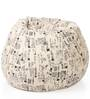 Classic Cotton Canvas Abstract Design Bean Bag XXL Size with Beans by Style Homez