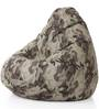 Classic Cotton Canvas Camouflage Design Bean Bag XXL Size with Beans by Style Homez