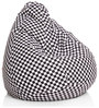 Classic Cotton Checkered Printed Bean Bag XL Size with Beans by Style Homez