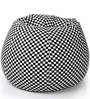 Classic Cotton Canvas Checkered Bean Bag XXL Size with Beans by Style Homez