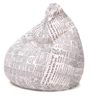 Classic Cotton Canvas Newspaper Design Bean Bag XL Size Cover Only by Style Homez