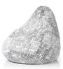 Classic Cotton Canvas Newspaper Design Bean Bag XXL Size Cover Only by Style Homez