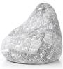 Classic Cotton Newspaper Design Bean Bag XXL Size with Beans by Style Homez