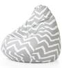 Classic Cotton Canvas Striped Bean Bag XXL Size with Beans by Style Homez