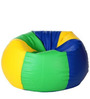 Classic Style Bean Bag with Beans in Multicoloured Colour by Sattva