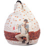 Mohabbatein Theme Bean Bag Cover in Multi Colour by Orka