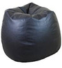 Classic Style Bean Bag Cover in Black Colour by Sattva