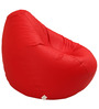 Classic Style Bean Bag Cover in Red Colour by Sattva