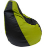 Classic Style Filled Bean Bag in Green Black Colour by Orka