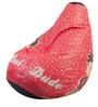 Hum Tum Dude Theme Filled Bean Bag in Multi Colour by Orka