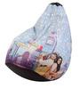 DDLJ Theme Filled Bean Bag in Multi Colour by Orka