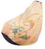 Chak De Theme Filled Bean Bag in Multi Colour by Orka