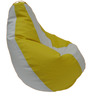 Classic Style Filled Bean Bag in Yellow White Colour by Orka