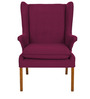 Classic Wing Back Chair in Purple Color by Afydecor