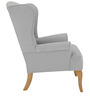 Classic Wingback Chair with Rolled Arms by Afydecor