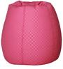 Classic  Bean Bag Cover without Beans in Pink Colour with White Polka Dots by Sattva