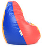 Classic XL Bean Bag Cover without Beans in Red Blue & Yellow Colour Combination by Can