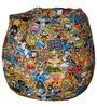 Classic  Bean Bag Cover without Beans with Yellow Cartoon Print by Sattva