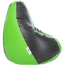 Classic XL Bean Bag Filled with Beans in Green & Black Colour by Can