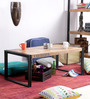 Odin Coffee Table in Light Brown Finish by Bohemiana