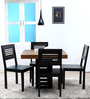 Shelby Four Seater Dining Set in Dual Tone Finish by Woodsworth