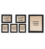 Clixicle Black Synthetic Wood & Acrylic 30 x 1 x 18 Inch Wall Decor 6-piece Collage Photo Frame