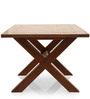 Clovis Six Seater Dining Table in Provincial Teak Finish by The ArmChair