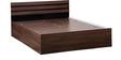 Cocoa King Bed with Box Storage in Black & Dark Acacia Matt Finish by Debono