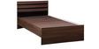 Cocoa Single Bed in Black & Acacia Dark Matt Finish by Debono