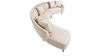 Contemporary Curvy Shaped Sofa with Conical Wooden Legs by Afydecor