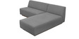 Contemporary LHS Sofa with Recessed Wood Base Platform in Grey Colour by Afydecor