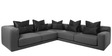 Contemporary Sectional with Low Broad Arms by Afydecor