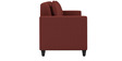 Cooper Three Seater Sofa in Cherry Colour by ARRA