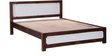 Coram King Bed with Handwoven Headboard in Provincial Teak Finish by Woodsworth