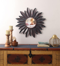 Cocovey Multicolour Iron Sunburst Decorative Mirror