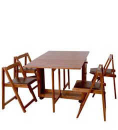 Compact Four-Seater Folding Dining Table by HomeTown at pepperfry
