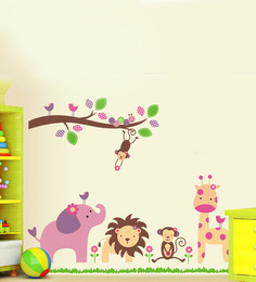 Cortina Jungle Theme Vinyl Wall Stickers