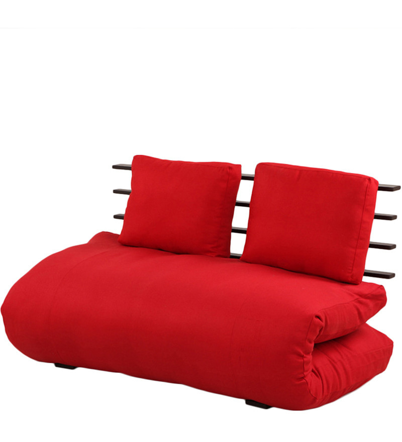 fortable Futon with Red Mattress by ARRA by ARRA line