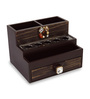 Cocktail Wooden Brown Step Dresser Makeup Organizer