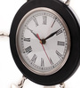 Cocovey Black Aluminium 10 x 3 x 12 Inch Anchor Wheel Table Clock