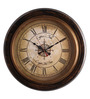 Cocovey Black Wooden 15 Inch Round Wall Clock