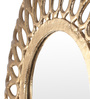 Cocovey Gold Aluminium Round Vintage Wall Mirror